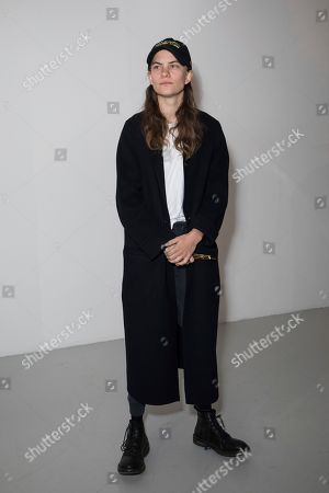 Stock Picture of Eliot Sumner, also known as Coco Sumner, poses for photographers prior to the Alexa Chung Spring/Summer 2019 runway show at London Fashion Week in London