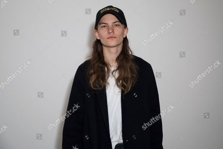 Eliot Sumner, also known as Coco Sumner, poses for photographers prior to the Alexa Chung Spring/Summer 2019 runway show at London Fashion Week in London