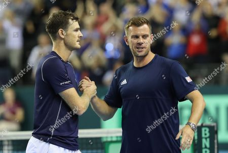 Editorial picture of Davis Cup Tennis, Great Britain v Uzbekistan, World Play Off Group, Day 2, Emirates Arena, Glasgow, UK - 15 Sep 2018