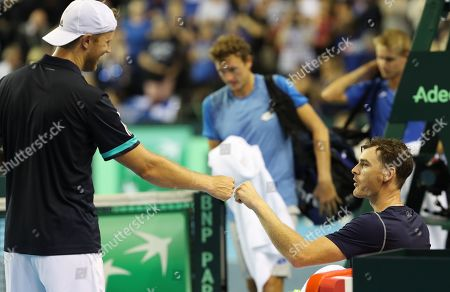 Editorial image of Davis Cup Tennis, Great Britain v Uzbekistan, World Play Off Group, Day 2, Emirates Arena, Glasgow, UK - 15 Sep 2018