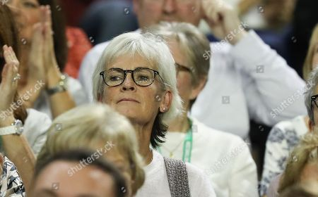 Judy Murray watching   Jamie Murray and Dominic Inglot playing Sanjar Fayziev and Denis Istomin  in the Doubles