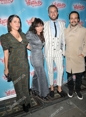 Sadie Frost and Frances Ruffelle and Paul Taylor-Mills, Lin-Manuel Miranda