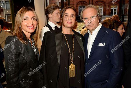 Paola Della Valle, India Mahdavi and Andrea della Valle
