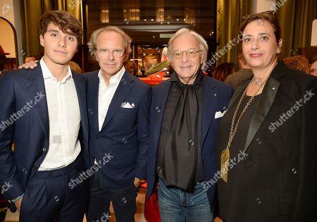 Stock Photo of Leonardo Della Valle, Andrea della Valle, Diego Della Valle and India Mahdavi