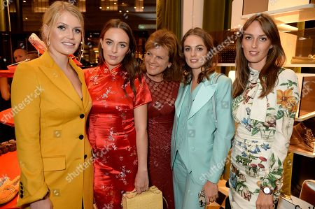 Lady Kitty Spencer, Lady Eliza Manners, Emma Manners, Duchess of Rutland, Lady Violet Manners and Lady Alice Manners