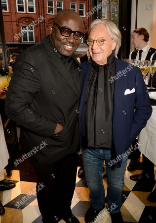 Edward Enninful and Diego Della Valle