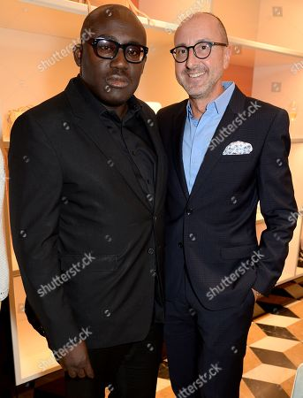 Edward Enninful and Gianluca Longo