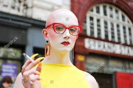 Editorial image of Street Style, Spring Summer 2019, London Fashion Week, UK - 15 Sep 2018