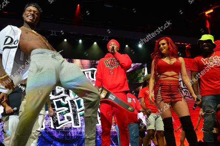 DC Young Fly, Nick Cannon and Justina Valentine