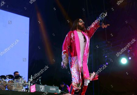 Jared Leto, Shannon Leto. Jared Leto and Shannon Leto with Thirty Seconds to Mars performs during Music MidTown 2018 at Piedmont Park, in Atlanta