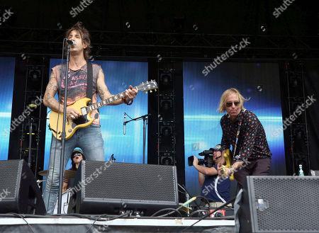 Peter Buck, Joseph Arthur. Peter Buck and Joseph Arthur with Arthur Buck performs during Music MidTown 2018 at Piedmont Park, in Atlanta