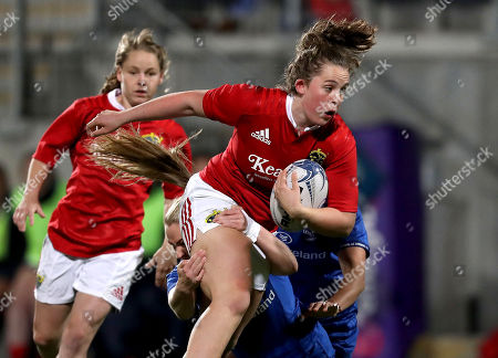 Stock Picture of Leinster vs Munster. Leinster's Gemma Matthews and Rachel Allen-Connolly of Munster
