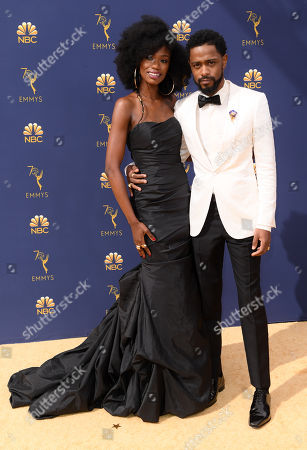 Stock Image of Xosha Roquemore and Lakeith Stanfield