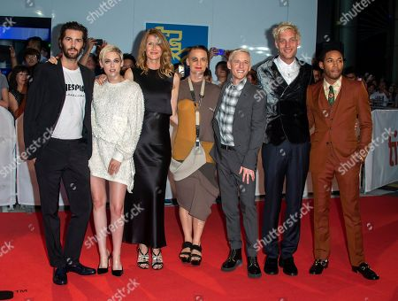(L-R) English actor Jim Sturgess, US actress Kristen Stewart, US actress Laura Dern, US writer Savannah Knoop, US director Justin Kelly, US actor James Jagger and US actor Kelvin Harrison Jr. arrive for the screening of the movie 'Jeremiah Terminator LeRoy' during the 43rd annual Toronto International Film Festival (TIFF) in Toronto, Canada, 15 September 2018.