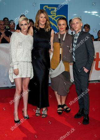 US actresses and cast members Kristen Stewart (L) and Laura Dern (2-L), US writer Savannah Knoop and US director Justin Kelly arrive for the screening of the movie 'Jeremiah Terminator LeRoy' during the 43rd annual Toronto International Film Festival (TIFF) in Toronto, Canada, 15 September 2018.