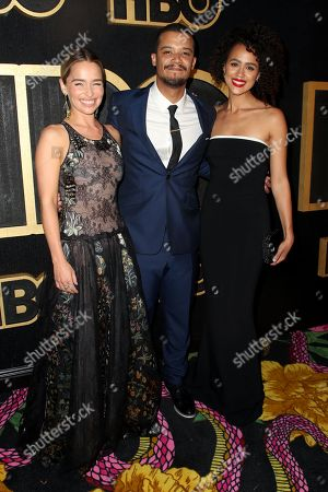 Emilia Clarke, Jacob Anderson and Nathalie Emmanuel