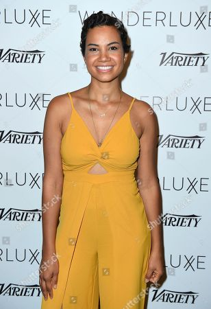 Michele Weaver attends the WanderLuxxe Celebrates Diversity in Television Honoring 2018 Emmy Nominees with Variety at Craig's on in West Hollywood, Calif