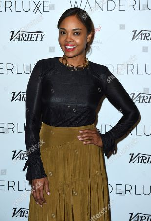 Stock Photo of Sharon Leal attends the WanderLuxxe Celebrates Diversity in Television Honoring 2018 Emmy Nominees with Variety at Craig's on in West Hollywood, Calif