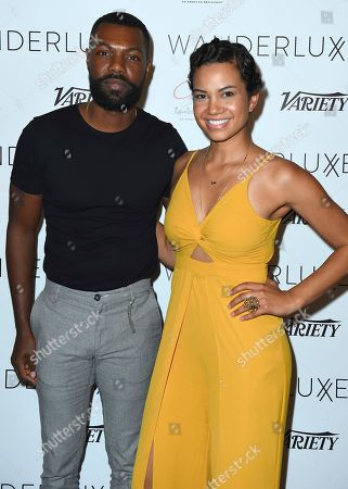 William Catlett, Michele Weaver. William Catlett and Michele Weaver attend the WanderLuxxe Celebrates Diversity in Television Honoring 2018 Emmy Nominees with Variety at Craig's on in West Hollywood, Calif