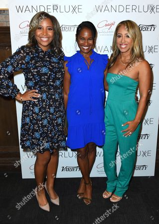 Marti Hines, Robinne Lee, Lola Wood. Marti Hines, Robinne Lee and Lola Wood attend the WanderLuxxe Celebrates Diversity in Television Honoring 2018 Emmy Nominees with Variety at Craig's on in West Hollywood, Calif