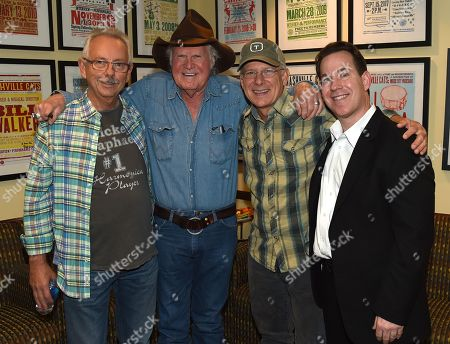 Producer Buddy Cannon, Singer/Songwriter Billy Joe Shaver, Songwriter Allen Shamblin and Michael Gray - Museum Editor Country Music Hall of Fame and Museum