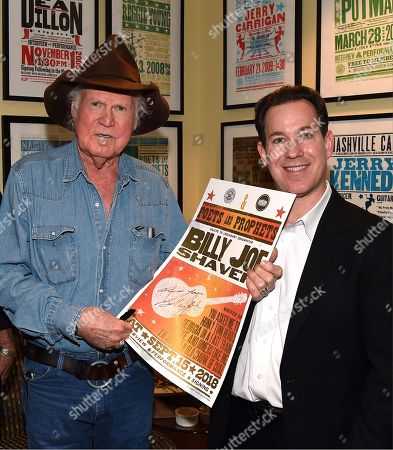 Singer/Songwriter Billy Joe Shaver and Michael Gray - Museum Editor Country Music Hall of Fame and Museum