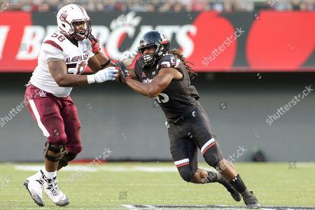 Editorial photo of NCAA Football Alabama A&M Bulldogs vs Cincinnati Bearcats, Cincinnati, USA - 15 Sep 2018