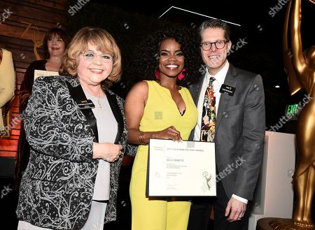 Patrika Darbo, Kelly Jenrette, Bob Bergen. Kelly Jenrette, center, poses with Television Academy Governors Patrika Darbo, left, and Bob Bergen at the 2018 Performers Nominee Reception presented by the Television Academy at the Wallis Annenberg Center for the Performing Arts, in Beverly Hills, Calif