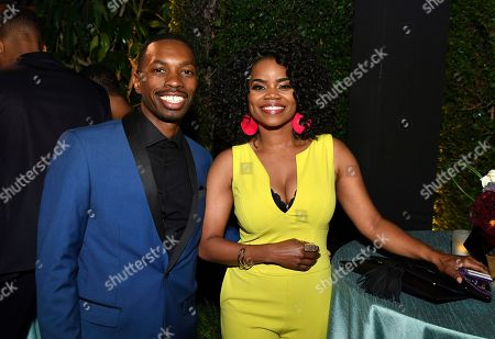 Kelly Jenrette, Melvin Jackson Jr. Kelly Jenrette, right, and Melvin Jackson Jr. attend the 2018 Performers Nominee Reception presented by the Television Academy at the Wallis Annenberg Center for the Performing Arts, in Beverly Hills, Calif
