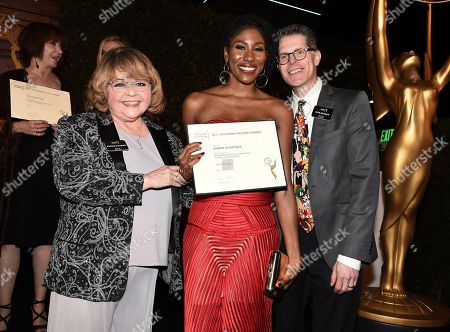 Patrika Darbo, Diarra Kilpatrick, Bob Bergen. Diarra Kilpatrick, center, poses with Television Academy Governors Patrika Darbo, left, and Bob Bergen at the 2018 Performers Nominee Reception presented by the Television Academy at the Wallis Annenberg Center for the Performing Arts, in Beverly Hills, Calif