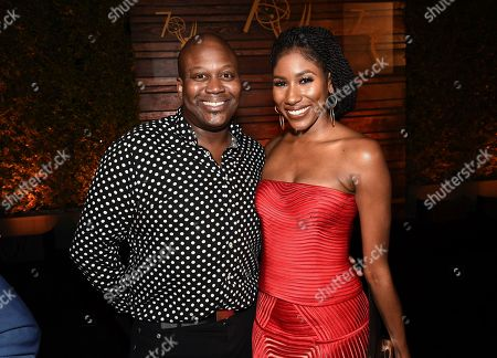 Tituss Burgess, Diarra Kilpatrick. Tituss Burgess, left, and Diarra Kilpatrick attend the 2018 Performers Nominee Reception presented by the Television Academy at the Wallis Annenberg Center for the Performing Arts, in Beverly Hills, Calif