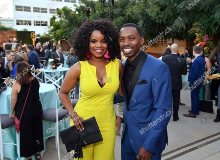 Kelly Jenrette, Melvin Jackson Jr. Kelly Jenrette, left, and Melvin Jackson Jr. attend the 2018 Performers Nominee Reception presented by the Television Academy at the Wallis Annenberg Center for the Performing Arts, in Beverly Hills, Calif