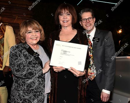 Patrika Darbo, Lee Garlington, Bob Bergen. Lee Garlington, center, poses with Television Academy Governors Patrika Darbo, left, and Bob Bergen at the 2018 Performers Nominee Reception presented by the Television Academy at the Wallis Annenberg Center for the Performing Arts, in Beverly Hills, Calif