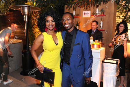Kelly Jenrette, Melvin Jackson Jr. Kelly Jenrette, left, and Melvin Jackson Jr. attend Ketel One Vodka bar, the Official Spirits Partner of the 70th Emmy Awards Season