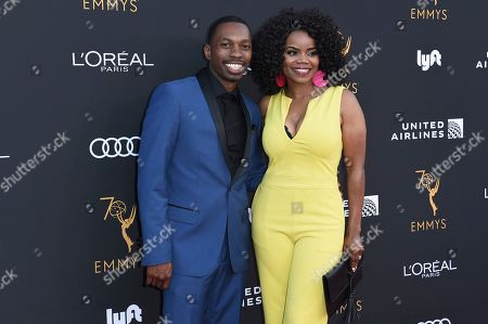 Melvin Jackson Jr., Kelly Jenrette. Melvin Jackson Jr., left, and attend the Television Academy Performers Nominee Reception at the Wallis Annenberg Center for the Performing Arts, in Beverly Hills, Calif