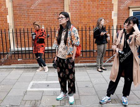 Editorial photo of Street Style, Spring Summer 2019, London Fashion Week, UK - 15 Sep 2018
