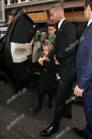 David Beckham, Harper Beckham, Cruz Beckham