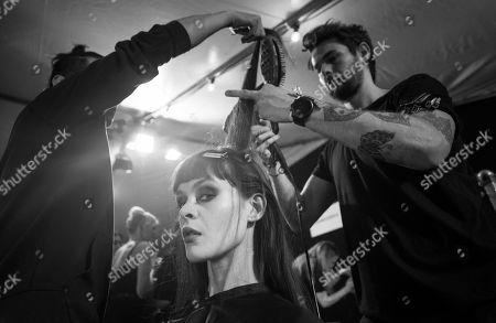 Genevieve Potgieter backstage