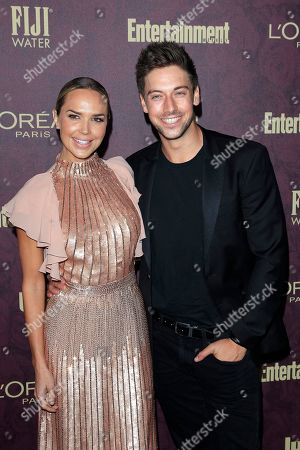 Arielle Kebbel (L) and Lincoln Younes arrive at the 2018 Pre-Emmy Party hosted by Entertainment Weekly and L'Oreal Paris at Sunset Tower in West Hollywood, California, USA, 15 September 2018 (issued 16 September).