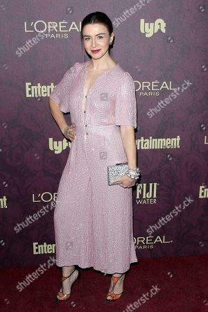 Caterina Scorsone arrives at the 2018 Pre-Emmy Party hosted by Entertainment Weekly and L'Oreal Paris at Sunset Tower in West Hollywood, California, USA, 15 September 2018 (issued 16 September).
