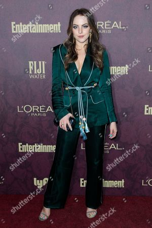 Stock Image of Elizabeth Gillies arrives at the 2018 Pre-Emmy Party hosted by Entertainment Weekly and L'Oreal Paris at Sunset Tower in West Hollywood, California, USA, 15 September 2018 (issued 16 September).