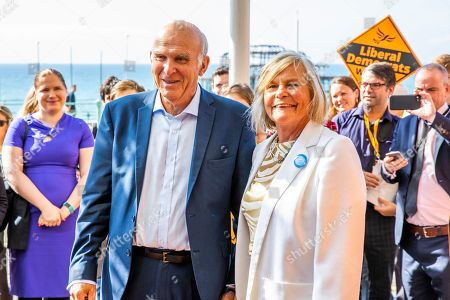 MP for Twickenham and Leader of the Liberal Democrats Party, Sir Vince Cable and his wife Rachel Smith arrive at the Metropole Hotel in Brighton ahead of the Lib Dem's Autumn Party Conference.