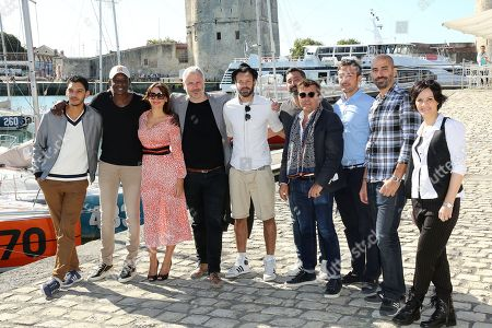 Amir El Kacem, Ahmed Sylla, Julie Bargeton, Olivier Charasson and the team of the film 'Access'
