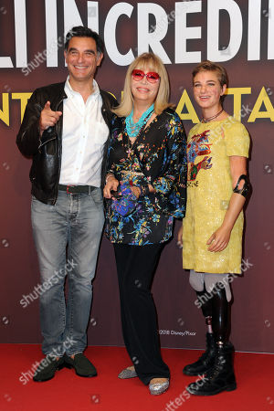 Tiberio Timperi, Amanda Lear and Bebe Vio