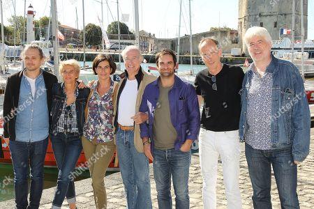 Bernard Le Coq, Gregory Montel and the team of the film 'Vivre sans eux'