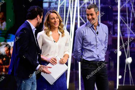 Stock Picture of Mia Ceran, Paolo Kessisoglu, Luca Bizzarri