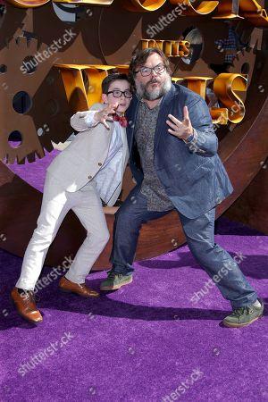Stock Photo of Owen Vaccaro and Jack Black