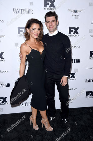 Tess Sanchez and Max Greenfield