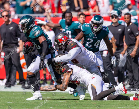 6eb08accded Philadelphia Eagles linebacker Jordan Hicks (58) gets tackled after  recovering the Tampa fumble during