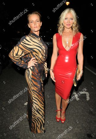 Stock Photo of Davinia Taylor and Caprice Bourret